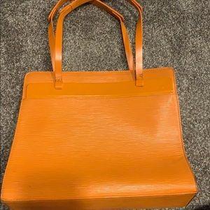 Very vintage lv orange epi bag